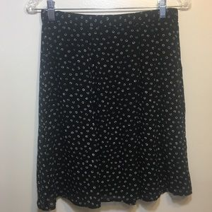 Ann Taylor Black/White Graphic button up skirt
